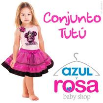 Conjunto Tutu Cumpleaños Faldas Tutus Camiseta Personalizada