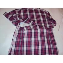 Camisa Dama Columbia En Fucsia + Morado + Blanco Talla S