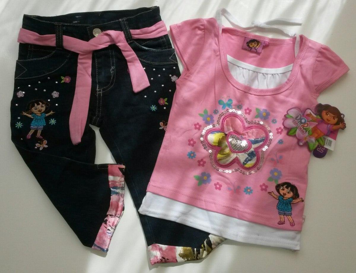 9cf86164d conjuntos pantalón capri jeans y blusa para niñas t 2 al 8. Cargando zoom.