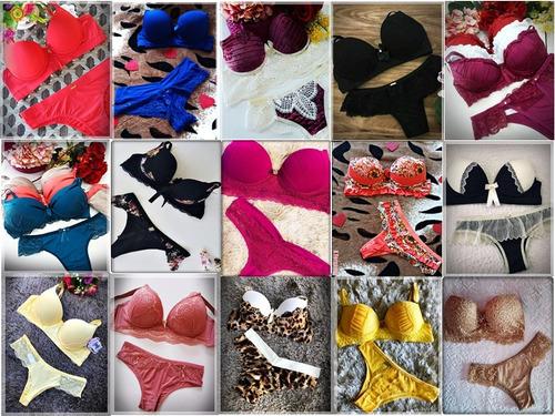 conjuntos revenda  lingerie 12 atacado sacoleira luxo roupas