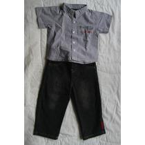 Conjunto Bebe Calvin Klein Talla 18 Meses (pantalon Y Camisa
