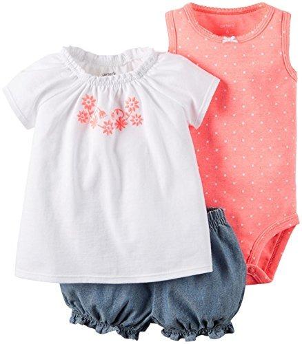 704a890df Conjuntos Vestidos Para Bebe, Niña 0 A 3 Meses Carter's Neo ...