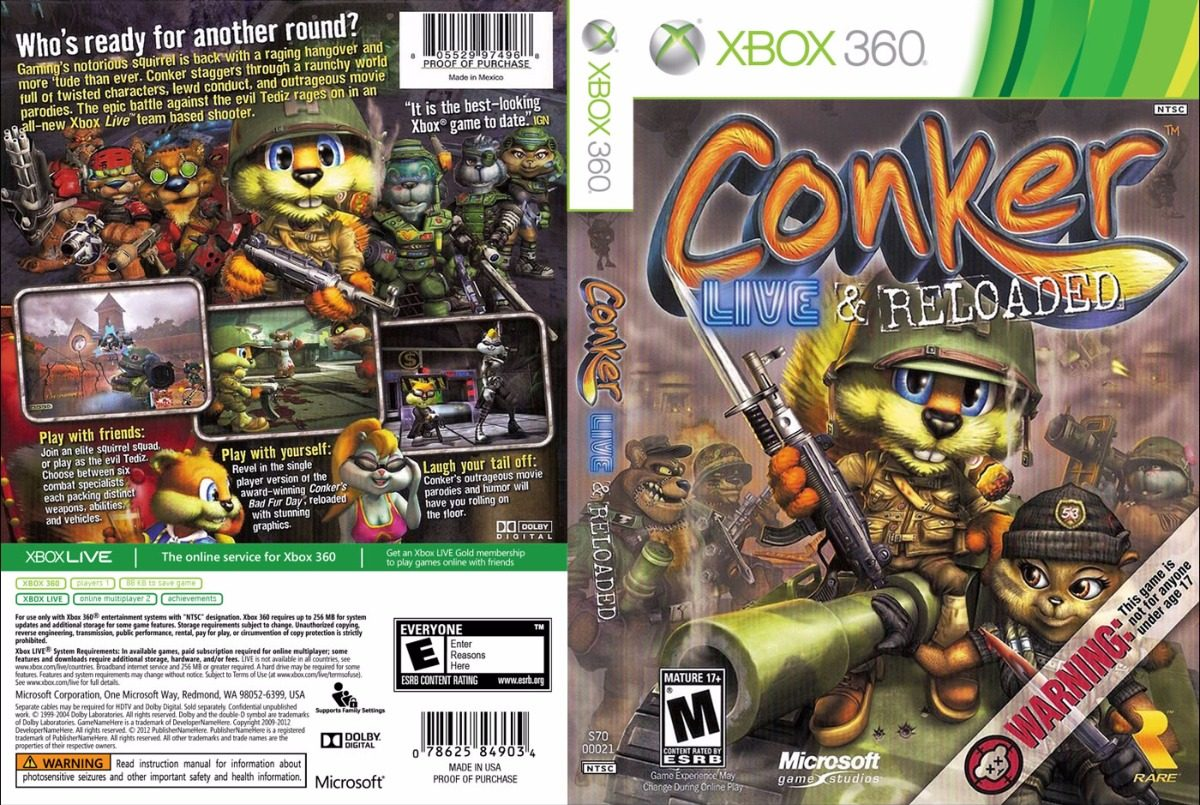 conker live and reloaded iso español