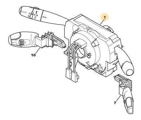 conmutador luces/limpiaparabrisas peugeot 206