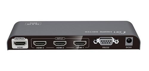 conmutador selector switch hdmi 3x1  4k 2k  60hz lenkeng
