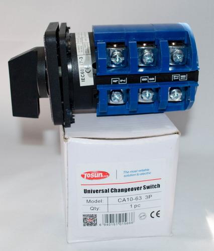 conmutador universal manual planta electrica 63amp transfer