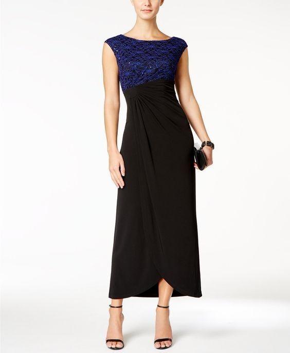 Vestido azul y negro imagen