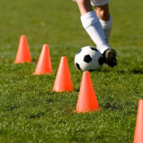 cono 17 cm flexible entrenamiento futbol coordinacion x 10