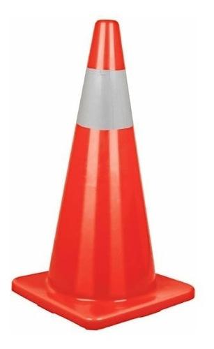 cono de precaucion de pvc con reflejante 70 cm truper 13123