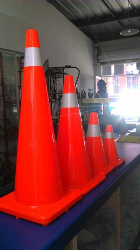 cono de seguridad 36inch 91cm  con cinta reflectiva