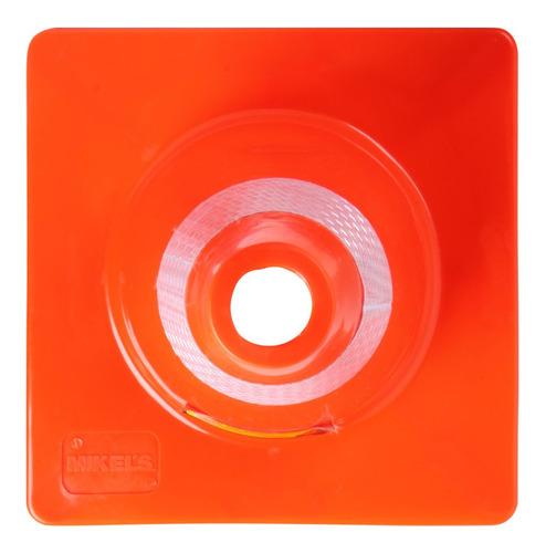 cono de seguridad 45 cm con reflejante mikels