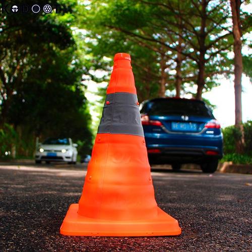 cono de seguridad vial reflectivo plegable 32cm de alto