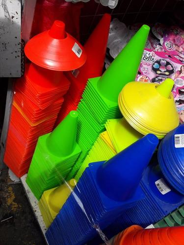 cono23cm p/ entrenar futbol basquetbol varios colores lowenv