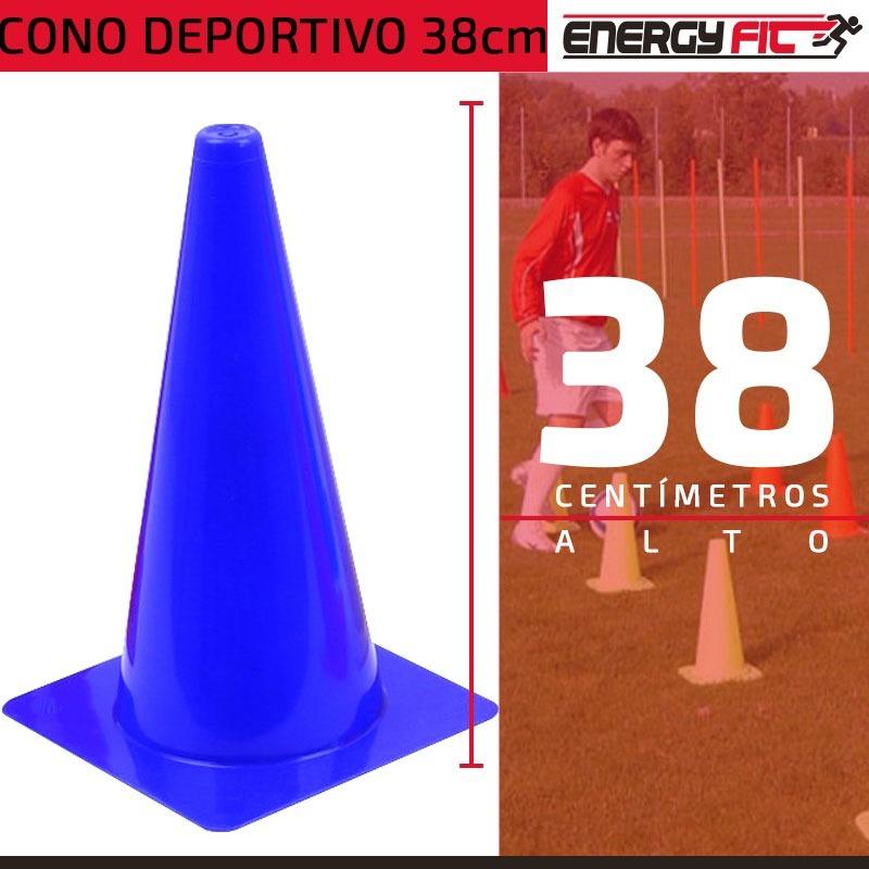cae9166a8d838 Cargando zoom... kit entrenamiento futbol 6 conos pvc 38cm + 6 ...