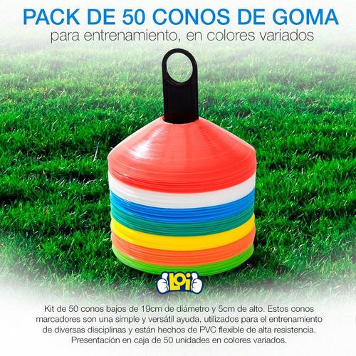 conos de entrenamiento tortuga pack x 50u + soporte en loi