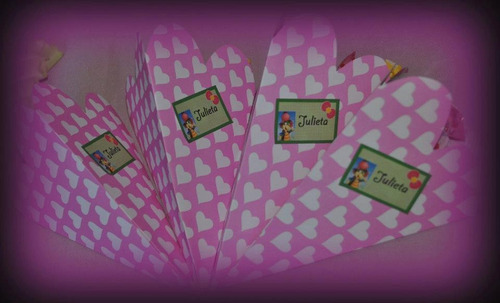 conos de papel personalizados. cumpleaños.souvenir pack x 10