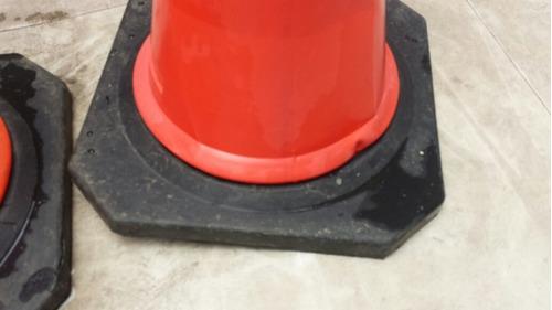 conos de seguridad naranja 76 cm de altura precio por par