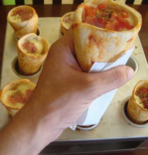 conos metálicos para hornear pizza en cono 12 x o.60 cm