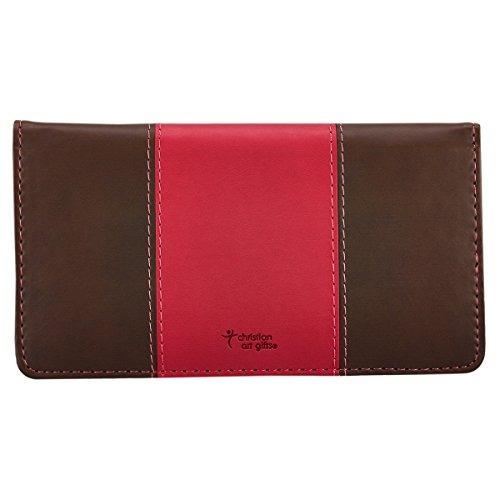 conozco los planes pink and brown checkbook cover