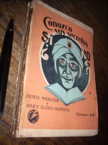 conozco sus secretos doris webster mary alden zigzag 1934
