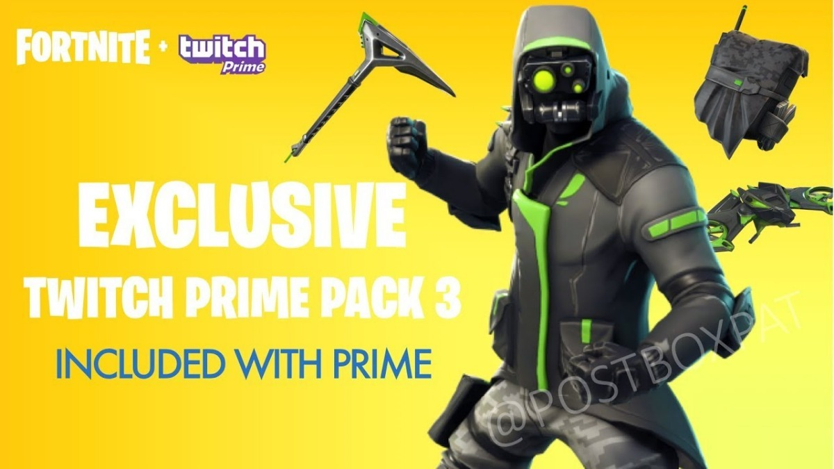 pack fortnite twitch prime 3 aprovechalo cargando zoom - pack de twitch prime fortnite 2019