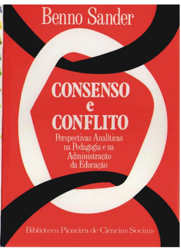 consenso e conflito - benno sander