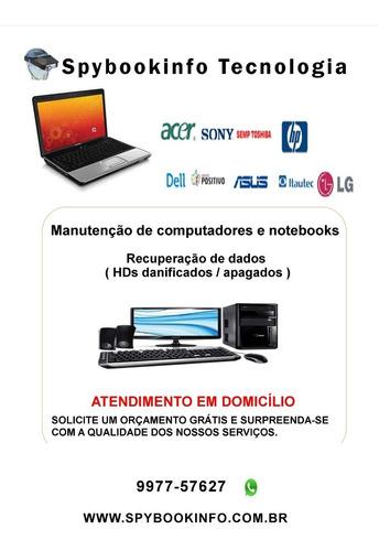 conserto de computadores, notebooks e recuperação de dados.