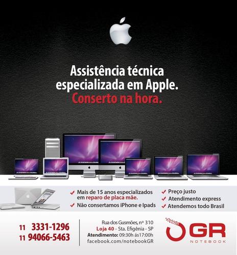 conserto reparo placa mãe apple macbook pro - air - imac -