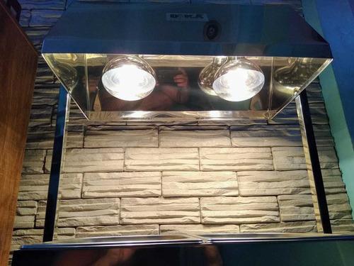 conservador aquecedor frituras batata salgado frango pastel