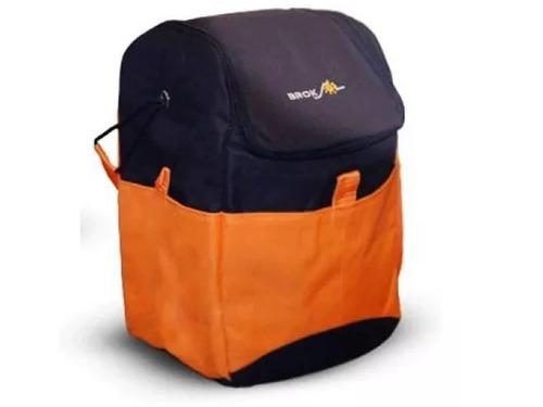 conservadora bolso termico 3 bolsillos camping pesca con3