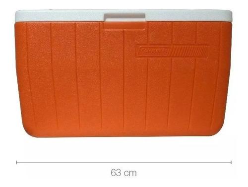 conservadora coleman 48 qt naranja (45.4 litros) (no envios)
