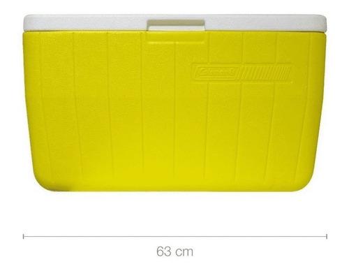 conservadora coleman beach 48 qt amarillo (45.4 litros)