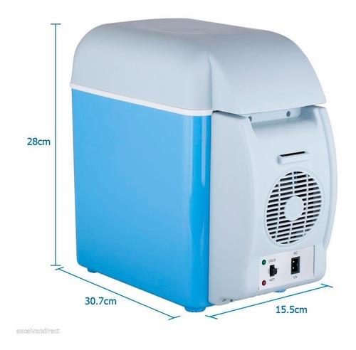 conservadora heladera portatil frio calor auto 7.5 lts 12v