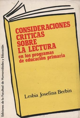consideraciones crìticas sobre la lectura