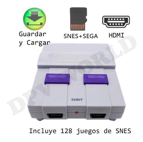 consola 100 juegos retro 2 controles 12 botones hdmi microsd