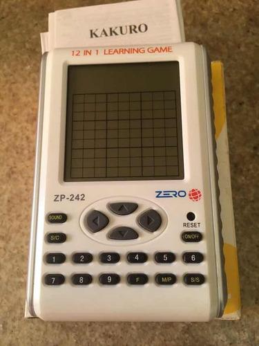 consola 12 en 1 zero zp-242 sodoku kakuro