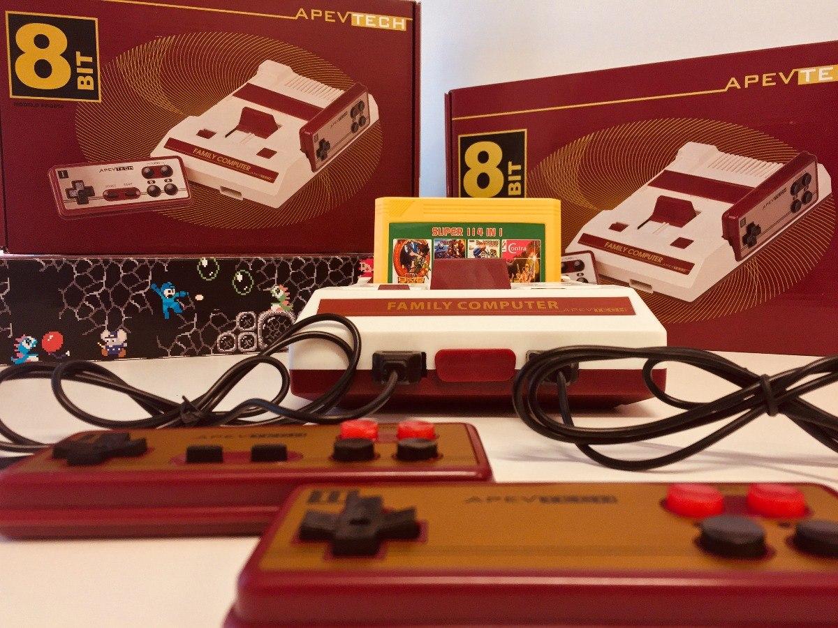 Consola 8 Bit Apevtech Family Game 2 Controles 114 Juegos