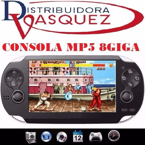consola 8gb psp mp5 mp4 mp3 camara digital video juegos fm