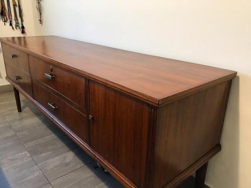 consola americana comoda mueble tv cedro retro original