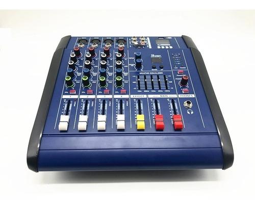 consola amplificada 4 canales profesional reikpro audio