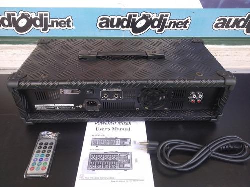 consola amplificada 4 canales revolu usb/sd bluetooth 300w