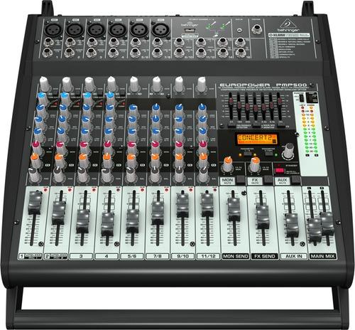 consola amplificada 500w, 12 canales, c/efectos pmp500