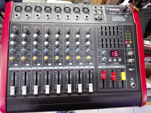 consola amplificada de 8 canales usb bloothue   nuevo