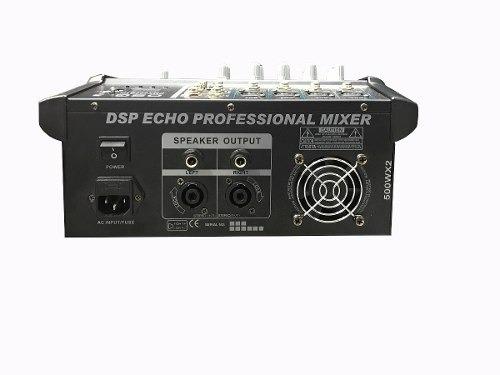 consola amplificada osq de 4 canales, 500 watts rms