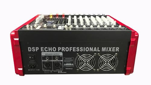 consola amplificada osq de 8 canales, 800 watts, multi efect