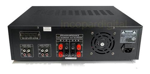 consola amplificador digital amwood bluetooth usb fm 1500w