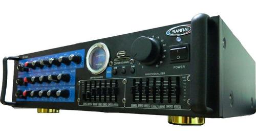 consola amplificador usb sd mic 600w potenciada