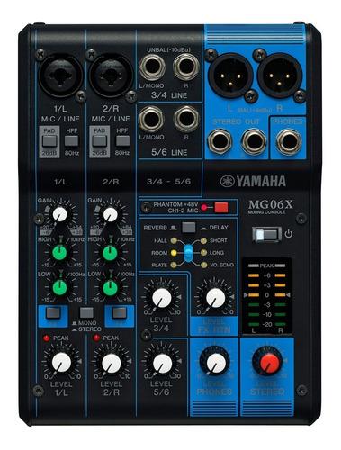 consola analógica yamaha mg06x 6 canales  y efectos