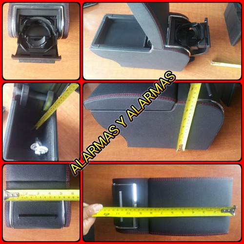 consola apoya brazo usb universal negra alarmas y alarmas