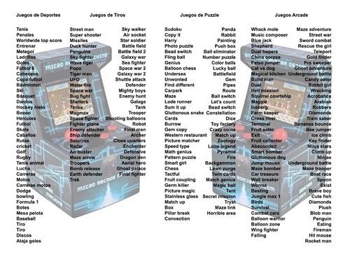 consola arcade juegos